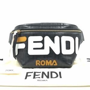 Authentic Fendi X Fila Spalmati Mani Belt Bag